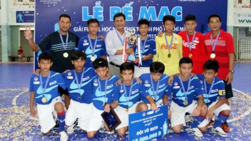 Trường Nguyễn Thị Định vô địch giải futsal THCS TPHCM năm học 2014/2015 – cúp Aquarius