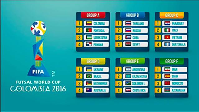 Việt Nam rơi vào bảng không quá khó tại VCK World Cup futsal 2016