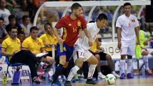 Đội tuyển futsal Việt Nam thua Tây Ban Nha trong trận giao hữu
